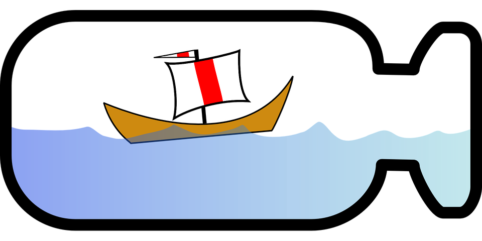 Free vector graphic: Ship In A Bottle, Sailboat, Bottle.