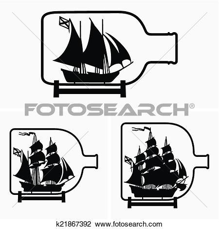Ship bottle Clip Art Illustrations. 595 ship bottle clipart EPS.