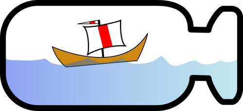Ship in a bottle clipart #10
