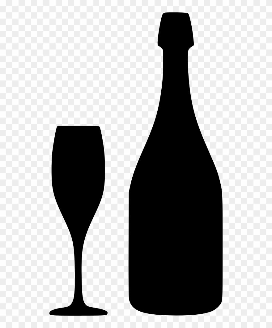 Download Free Champagne Bottle Svg Clipart Wine Glass.