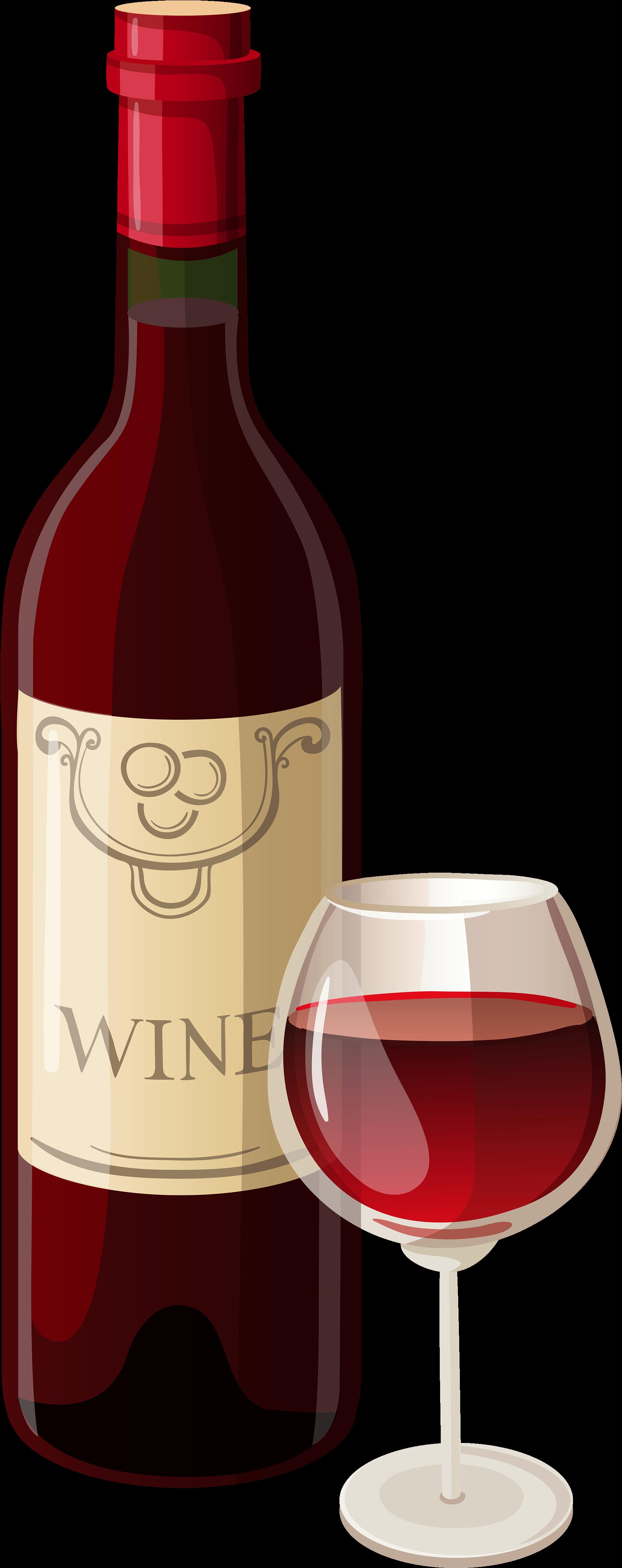 Red Wine Champagne Bottle Clip art.