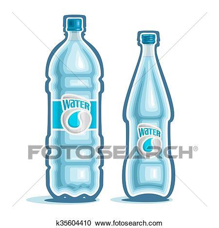 Logo for bottled water Clipart.