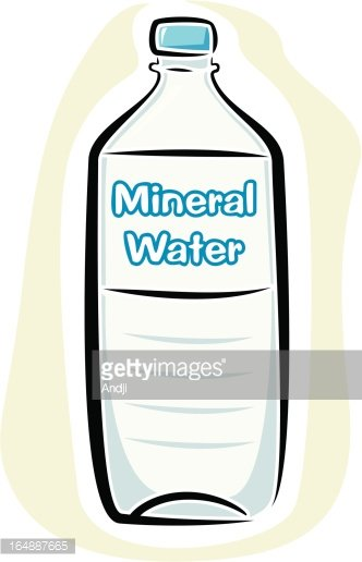 Mineral Water Bottle (Vector) Clipart Image.