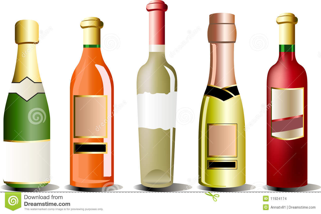 Wine Bottles Clip Art Stock Photos, Images, & Pictures.