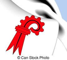 Flag of basel landschaft canton switzerland Illustrations and Clip.