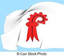 Flag of basel landschaft switzerland Illustrations and Clip Art.