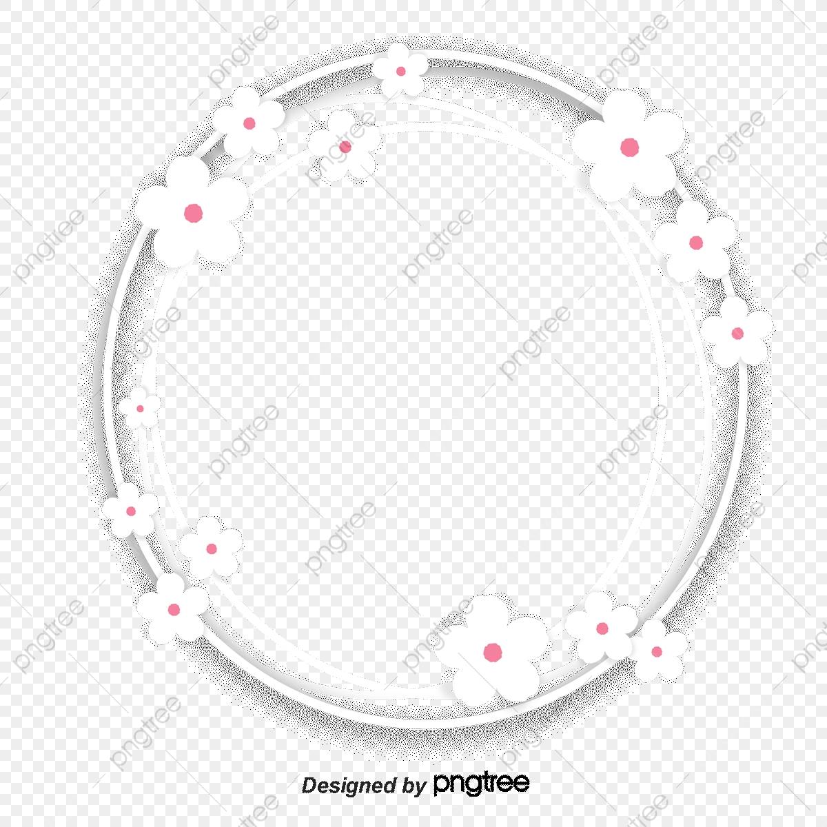 Sakura Bottom Frame, Cherry Blossoms, Annulus, Bottom Frame PNG.