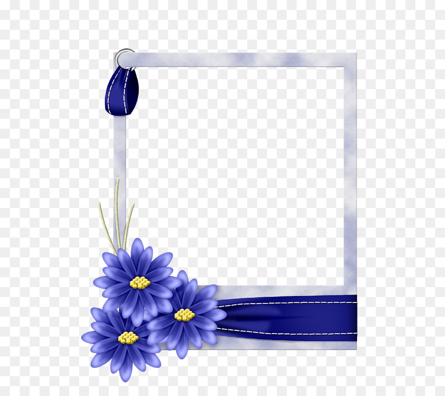 Watercolor Flowers Frame png download.