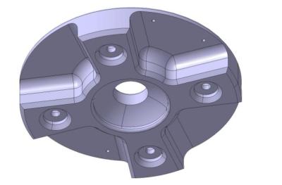 3D model of the inner bottom plate.