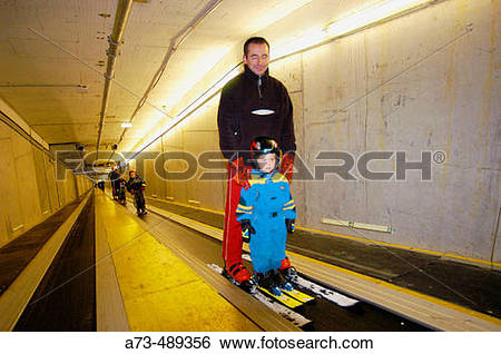 Stock Images of Alpincenter at Bottrop, artificial ski and.