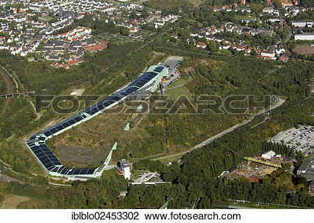 "Stock Photo of ""Aerial view of the AlpinCenter Bottrop, former."