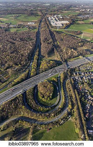 """Stock Image of """"Aerial view of the A2 and A31 motorway junction."""
