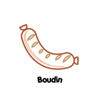 Boudin Vector Image.