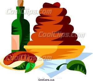 EU European cuisine boudin Vector Clip art.