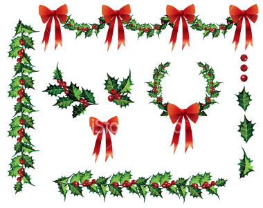 Gallery For > Boughs of Holly Clipart.