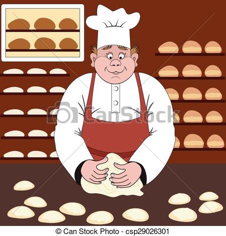 Clipart Vecteur de boulanger, chignons, boulangerie, marques, ou.