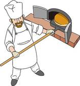 Clip Art of Bakery, High Angle View, Illustrative Technique.