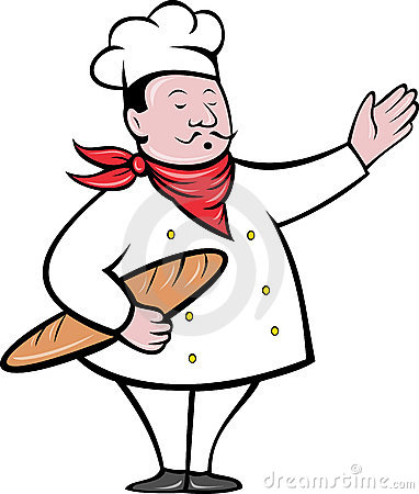 Chef Baker With Bread Loaf Royalty Free Stock Images.
