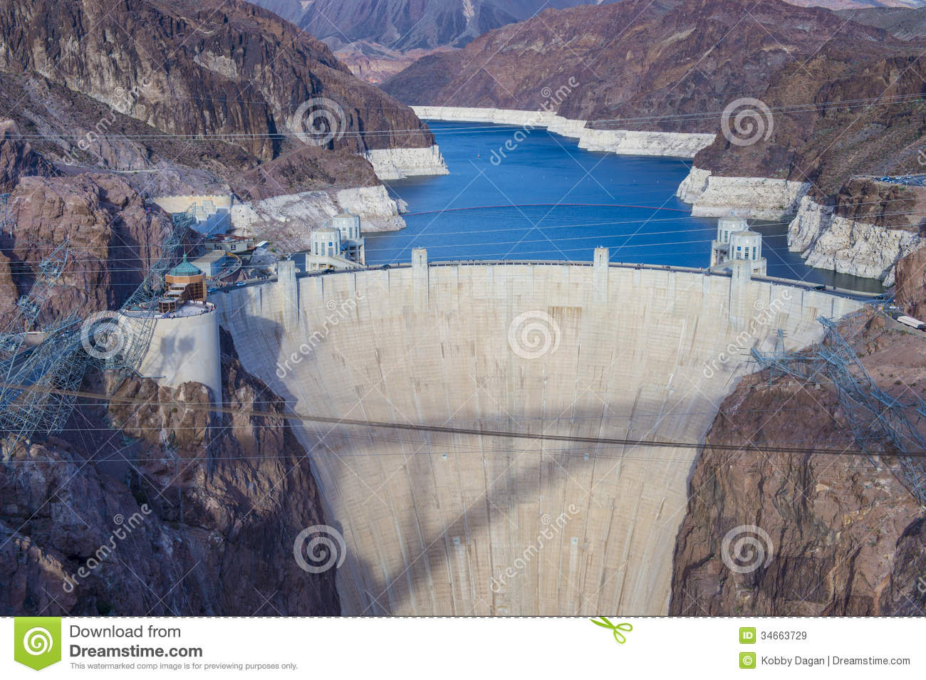 Hoover Dam Royalty Free Stock Images.