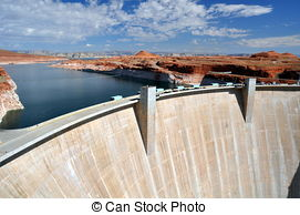 Stock Photo of Hoover Dam Bridge.
