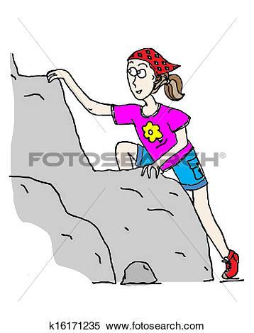 Stock Illustration of Climbing Girl k16171235.