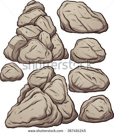 Cartoon Boulders Cartoon Boulders Rocks Pebbles Stock Vector.