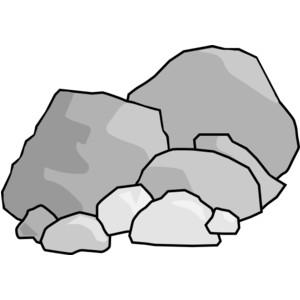 Boulders clip art.