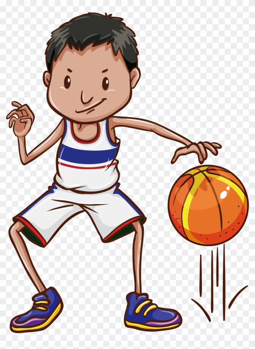 Banner Free Bouncing Basketball Clipart.