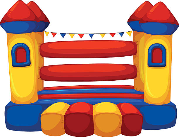 Best Bounce House Illustrations, Royalty.