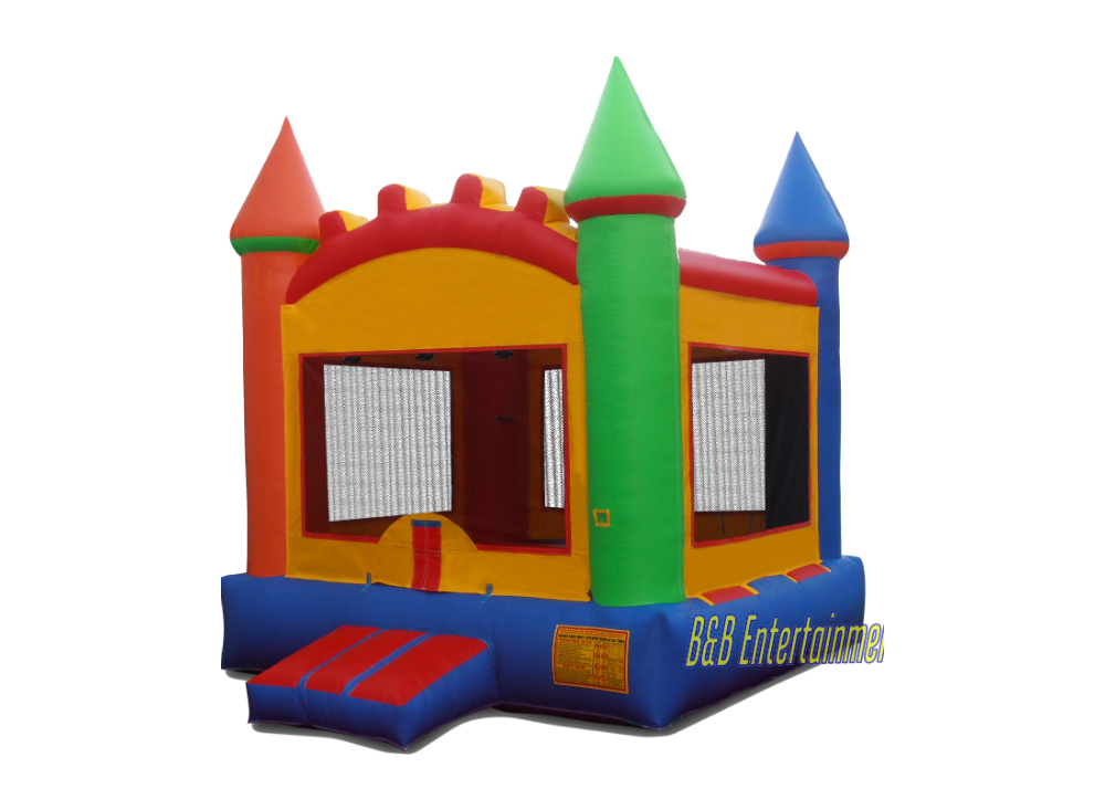 Multi Color Castle 13 x 13 Bounce House.