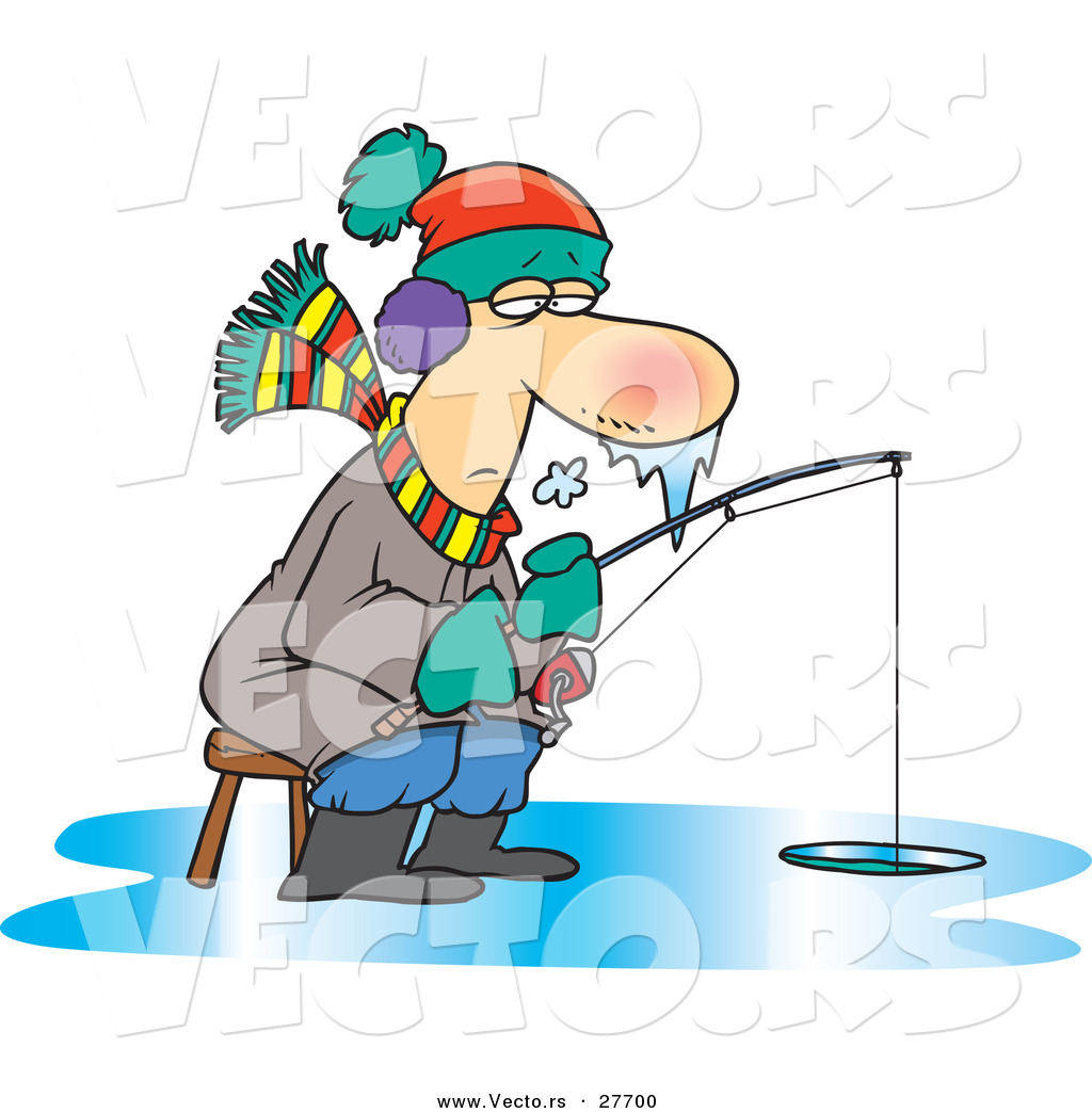 Old Guy Fishing Clipart.