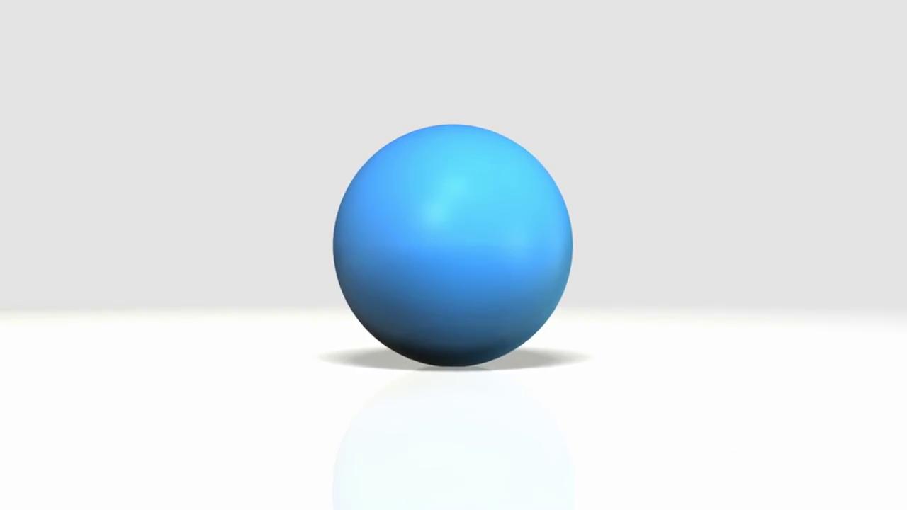 A Cartoony Blue Bouncing Ball Bouncing R #111011.