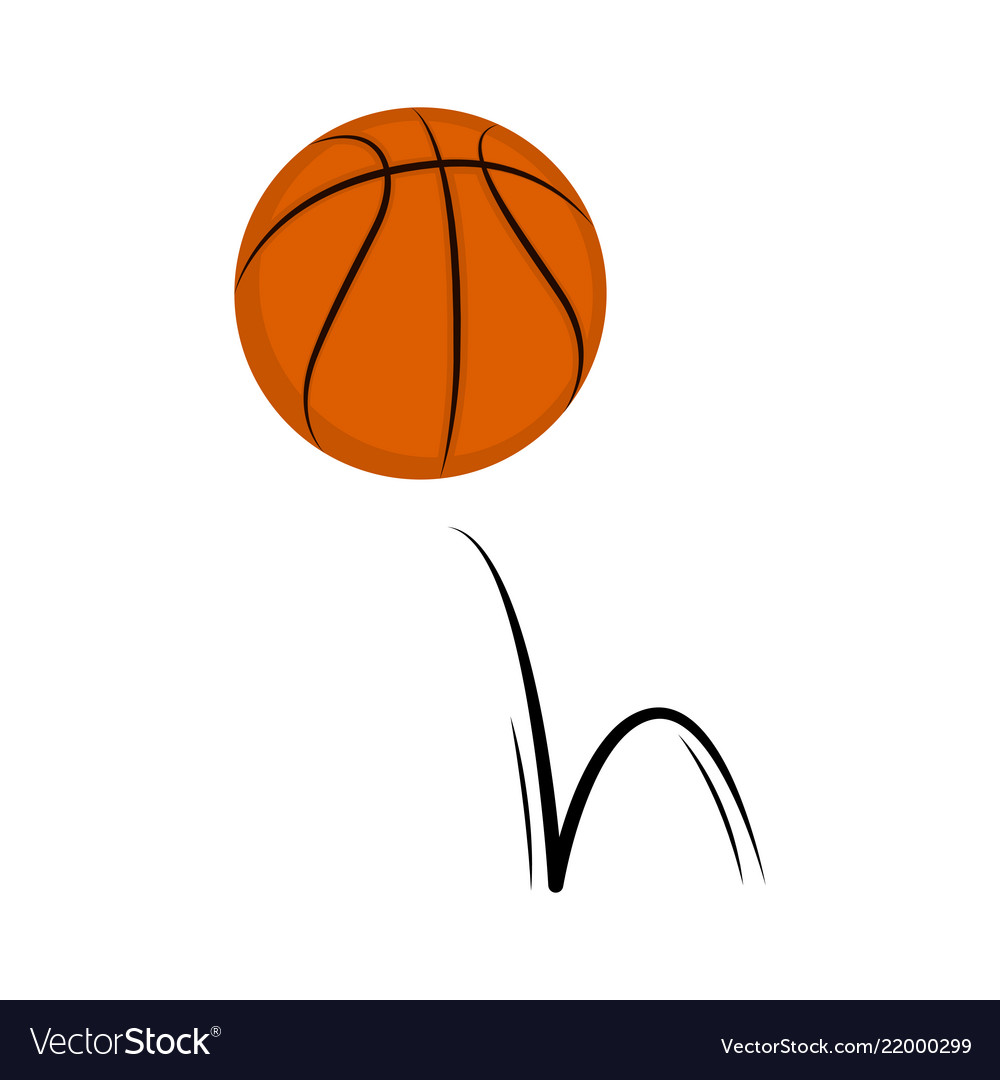Isolated basketball ball with a bounce effect.
