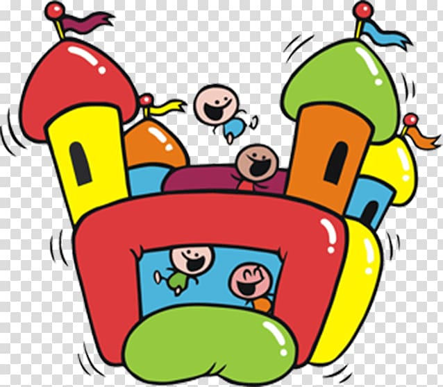 Inflatable Bouncers Castle Party , Bouncy Castle transparent.