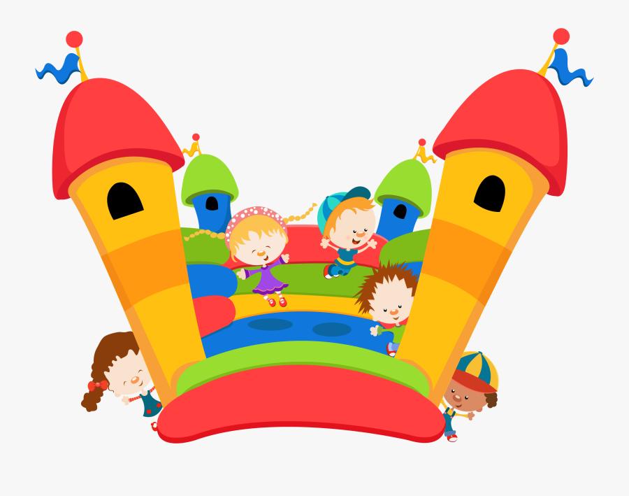 Cartoon Bouncy Castle , Free Transparent Clipart.