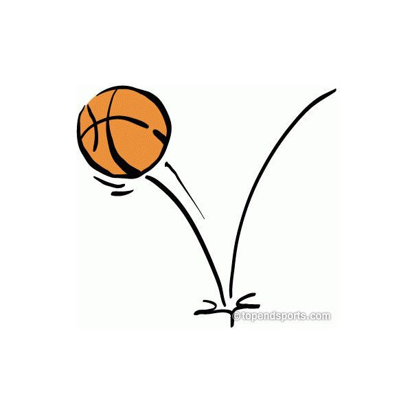 Basketball Clipart Bouncing Basketball ❤ liked on Polyvore.