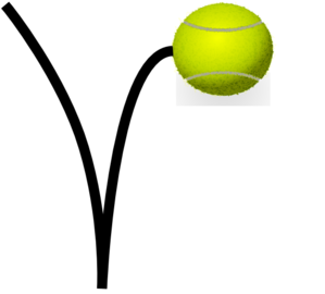Bouncing Tennis Ball Clipart.