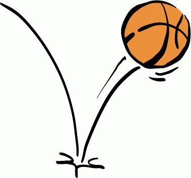 Bouncing basketball clipart.