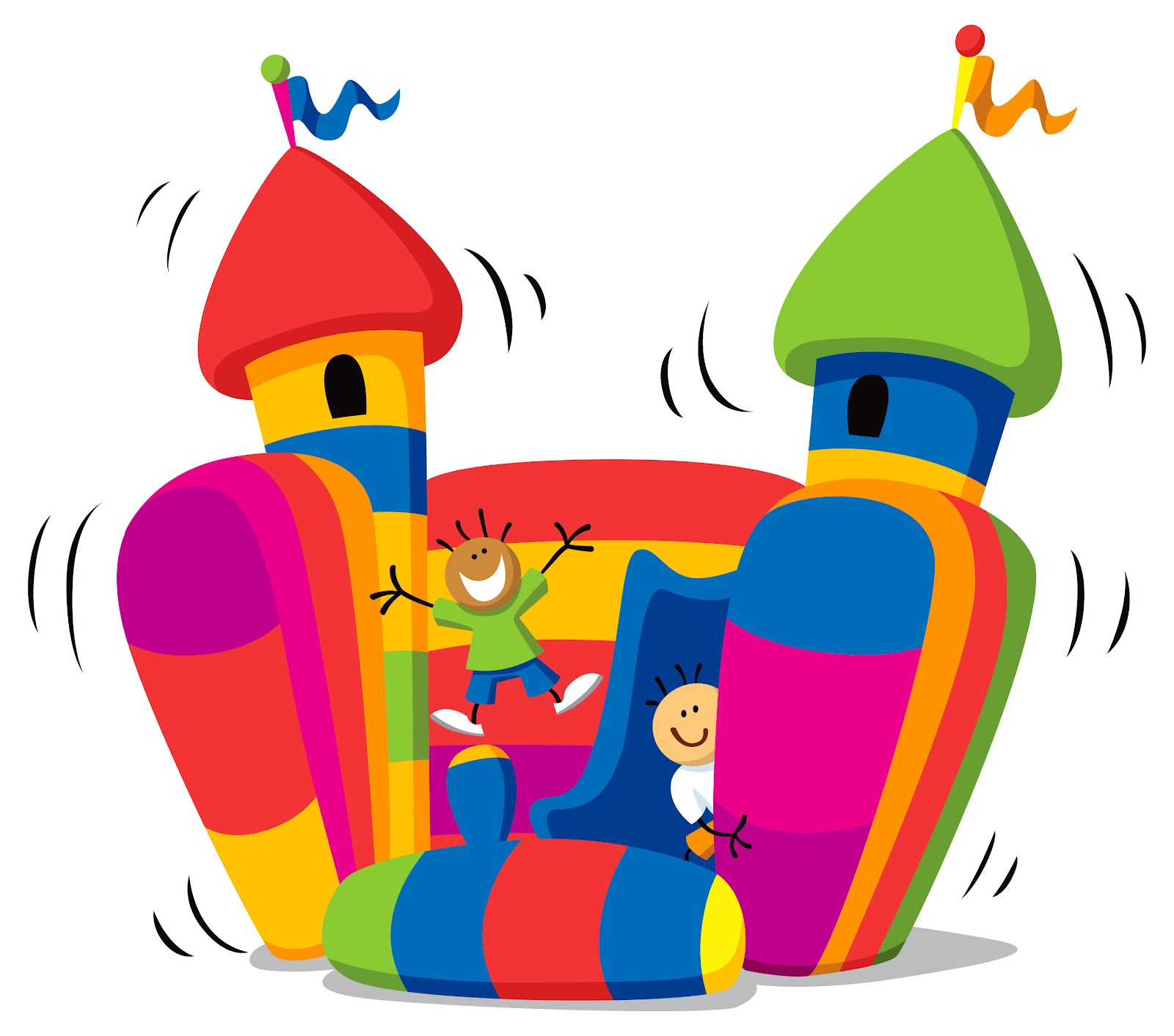 Bouncy castle clipart.