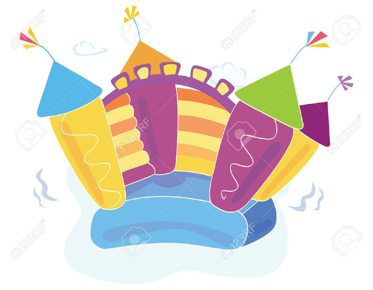 Vector Bouncy Castle. Vector Illustration Of A Bouncy Castle.