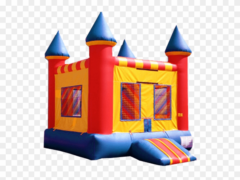 Our Red Castle Bounce House Is Bright And Colorful.