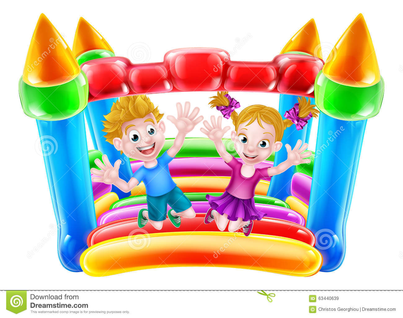 Clipart Bouncy Castle.