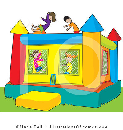 Free bounce house clipart.