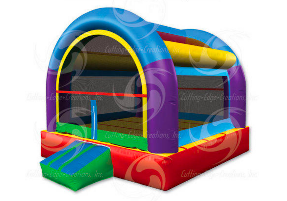 Wacky Arched Bounce House.