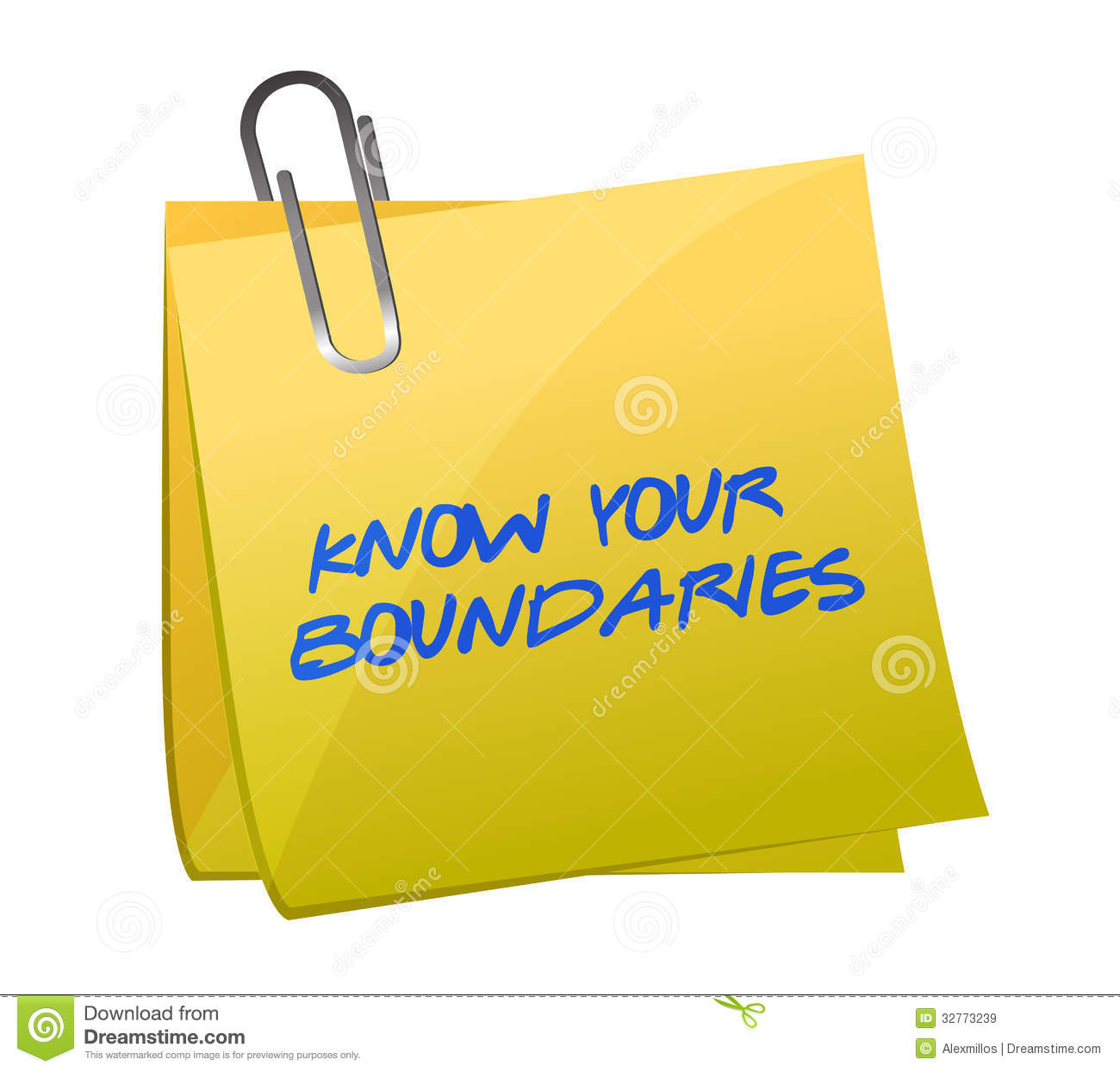Boundaries clip art.