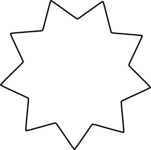 Black Star Boundary Clip Art at Clker.com.