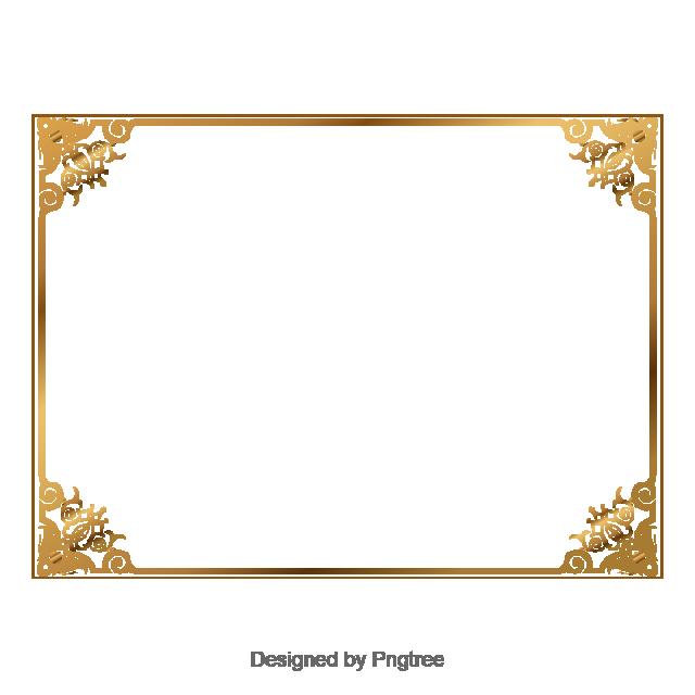 Gold Retro Decorative, Golden , Vector,boundary, Golden Vector.