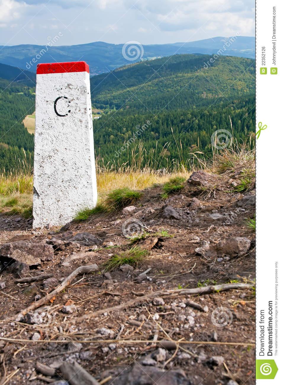Boundary Stone Royalty Free Stock Image.