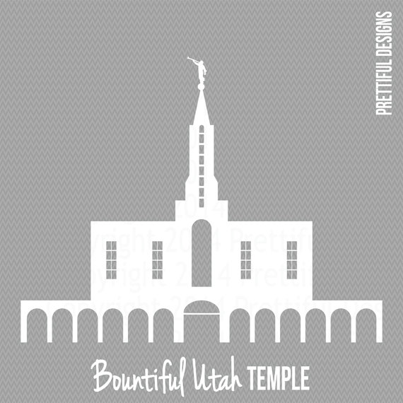 Bountiful Utah Temple LDS Mormon Clip Art by ILoveToSeeTheTemple.