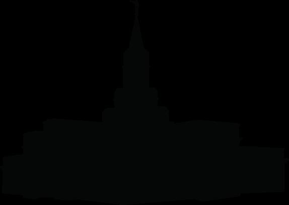 Bountiful Utah Temple Silhouette Clipart.